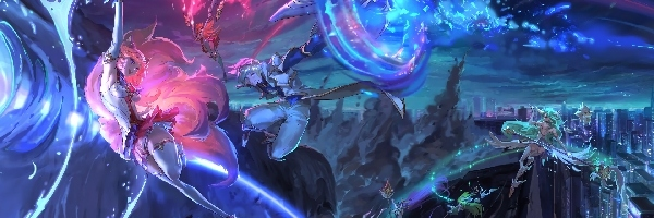 Leagune of legends, Star-Guardian, Ahri, Ezreal