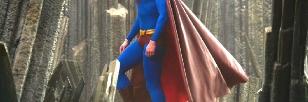 Superman Returns, Brandon Routh, peleryna, beton